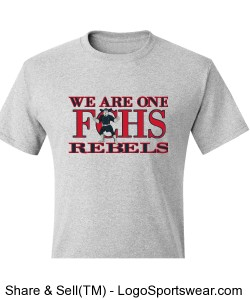 We are one .... Rebels Adult T-shirt Design Zoom